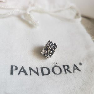 Authentic PANDORA scroll Charm